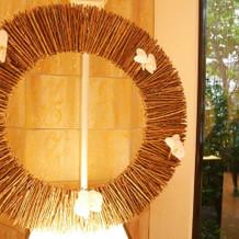 チャペル祭壇の飾り。ご縁という意味です。