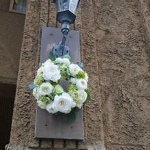 建物の装花