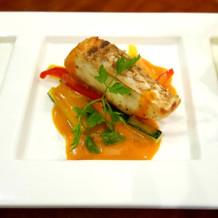 ブライダルフェアの魚料理