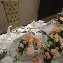 高砂の装花、椅子