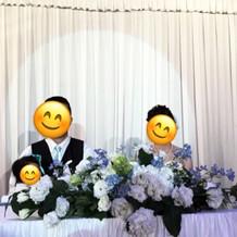 素敵なテーブル装花