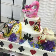 アリス大好きな嫁さんも大満足のケーキ