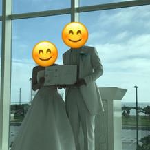 可愛い結婚証明書もプランに付いていました
