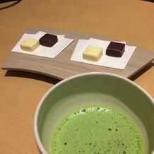 試食した抹茶とチョコレート