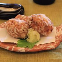 車海老の真薯。アツアツだったと好評。