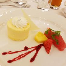 デザートも可愛かったです。