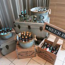ビールバー、飾り方もオシャレ