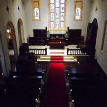 教会の上からの写真。