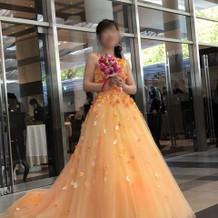 桂由美のカラードレス