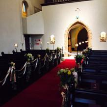 教会の中。