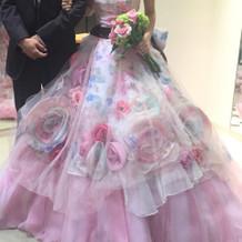 希望通りのドレスでお気に入りです