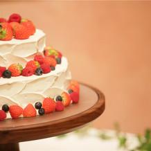 ビュッフェもあるのでケーキは小さめに。