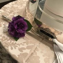 ケーキナイフ装花