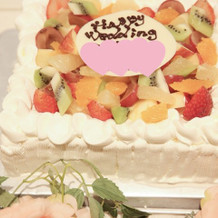 ウェディングケーキ。
