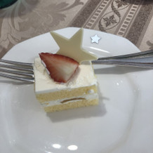 星のケーキをリクエスト!