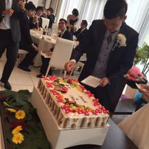 オリジナルケーキです。