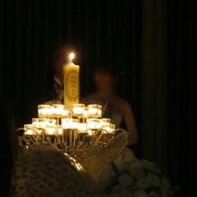 メインのキャンドル灯火