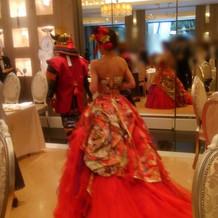 素敵な和装ドレス