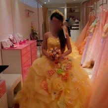 新作で入ったカラードレス