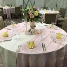 披露宴会場ゲストのテーブル