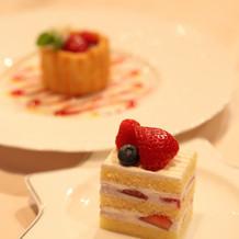 デザートも美味しいと評判です