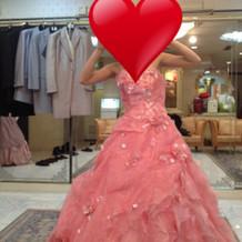 お色直しで使用したドレスです。