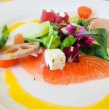 色鮮やかな前菜。