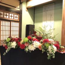 素敵な装花!