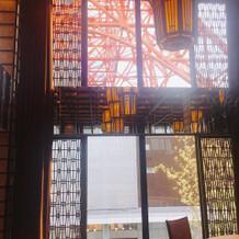 もちろん東京タワーが見えます