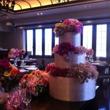 ケーキ&装花のイメージ