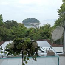 竹島が見えます