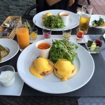 式後の宿泊の翌日の朝食です。