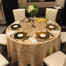 ゲストテーブル。