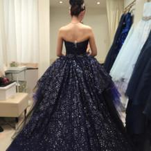 提携ショップのドレス。キラキラでした。