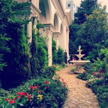 式場のお庭