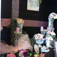 ゲスト控え室の横の装飾が可愛い。