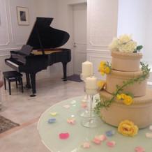 ピアノが置かれています