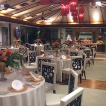 バリ風の披露宴会場。