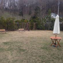 庭園でのデザートブッフェめできます。