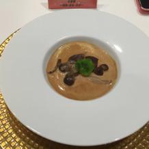 キノコのスープは濃厚でした