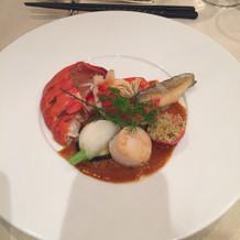 豪華な魚系料理 ホタテもすばらしい