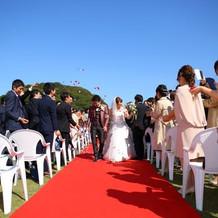 ガーデンでの結婚式