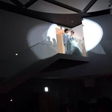 360度スクリーンと2階からの入場