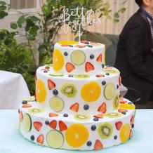 二次会のケーキもアレンジ