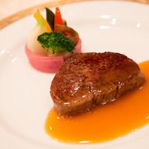 フランベからの国産牛フィレ肉。