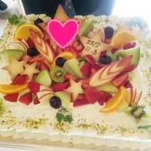 ケーキ!デザインはリクエストしました