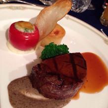 黒毛和牛のフィレ肉は柔らかくて美味しい
