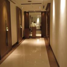 チャペル前の廊下