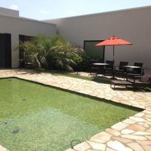 モルディブの外庭?プール?