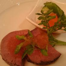 牛フィレ肉のロースト。お肉が柔らかい。